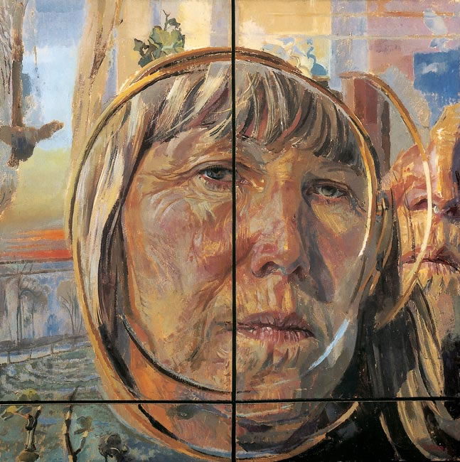 Me in a Magnifying Mirror, 2001 - 40.6 x 40.6 ins