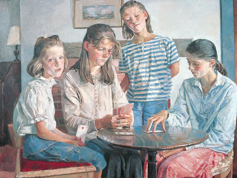 The Daughters of Giles Curtis, 1989 - 121.9 x 91.4 cms