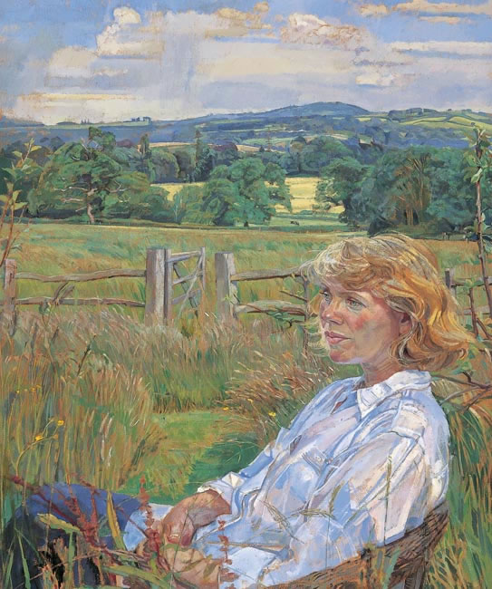 Mrs Crispian Collins, 1997 - 61 x 61 cms