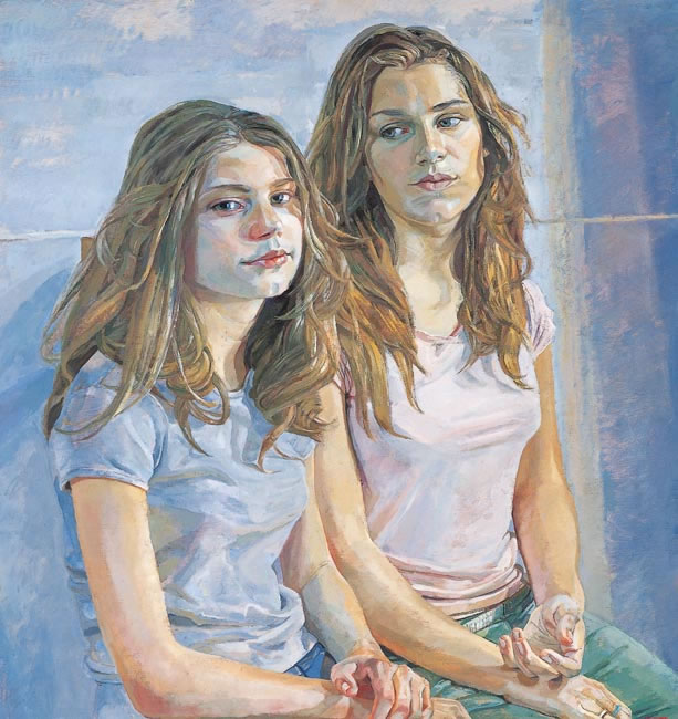 Alice and Sefi, 2005 - 61 x 57.2 cms