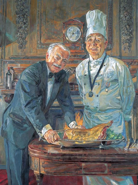 The Chef and Butler, Lincoln College, Oxford 2007 - 121.9 x 91.4 cms