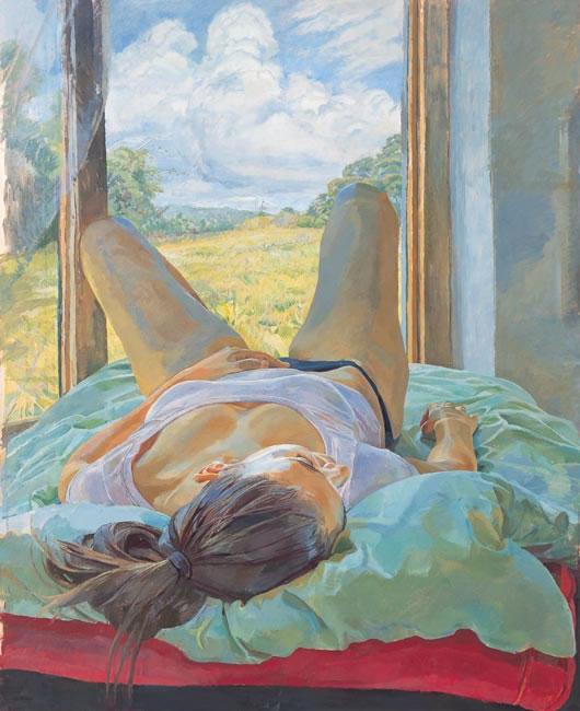 Landscape Between Legs, 2004 (94 x 76.2 cms - 37 x 30 ins) - Sold