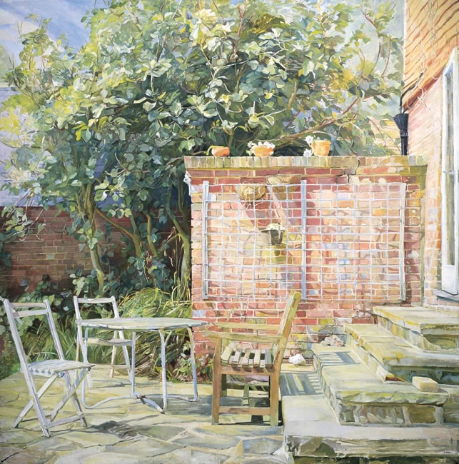 The Terrace, 1985 (121.9 x 121.9 cms - 48 x 48ins)