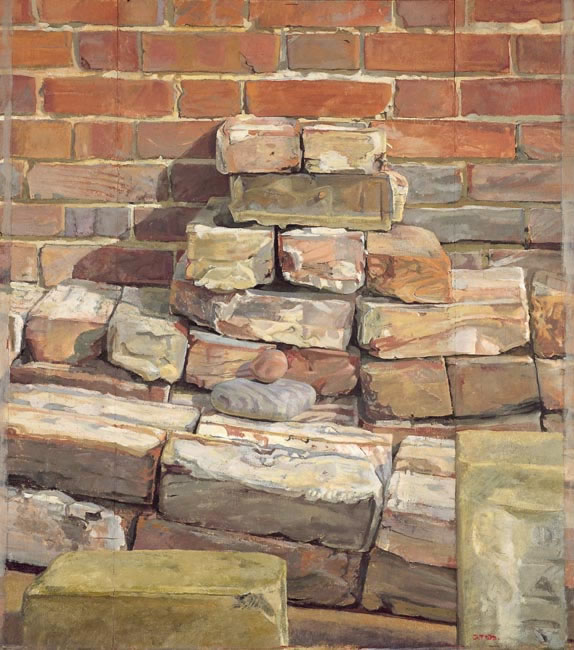 Bricks and Stones, 2000 (58.4 cms x 50.8 cms - 23 x 20 ins) - Sold