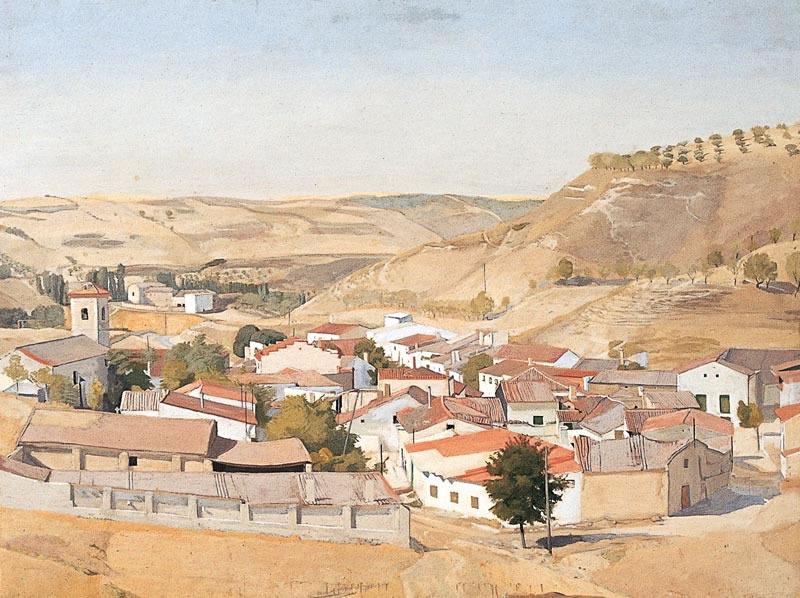Village near Alcala, 1974 (76.2 x 97.8 cms 30 x 38.5 ins)