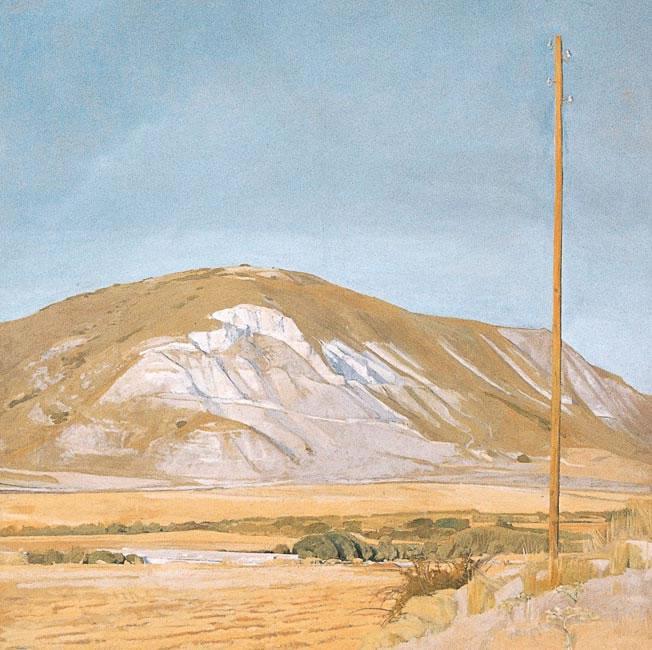 Hill near Alacala, 1974 (91.4 x 91.4 cms - 36 x 36 ins)